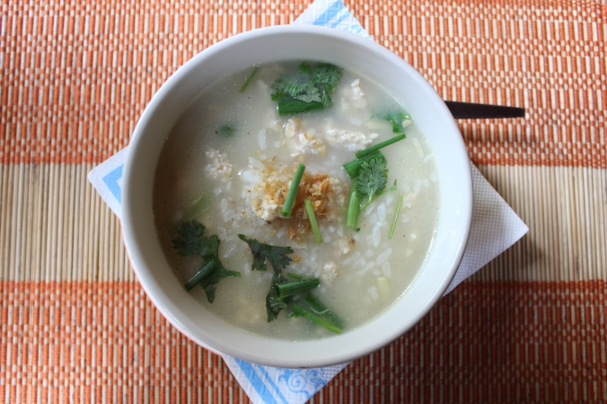 Chicken Rice Soup: Traditional Thai Breakfast
